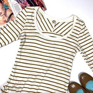 Free People Hard Candy Stripe Crochet Detail Sz S